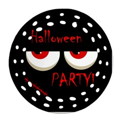 Halloween Party   Red Eyes Monster Round Filigree Ornament (2side) by Valentinaart