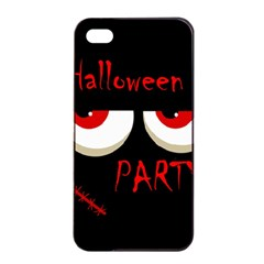 Halloween Party   Red Eyes Monster Apple Iphone 4/4s Seamless Case (black) by Valentinaart