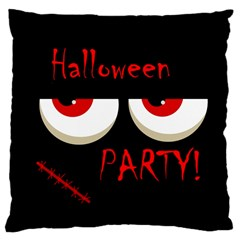 Halloween Party   Red Eyes Monster Large Cushion Case (one Side) by Valentinaart