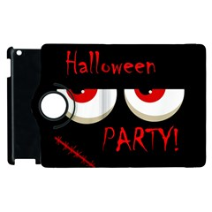 Halloween Party   Red Eyes Monster Apple Ipad 2 Flip 360 Case by Valentinaart