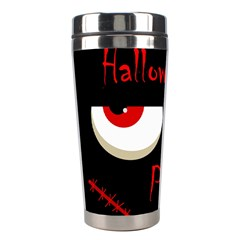 Halloween Party   Red Eyes Monster Stainless Steel Travel Tumblers by Valentinaart