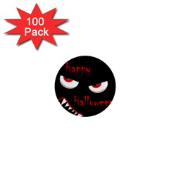 Happy Halloween   Red Eyes Monster 1  Mini Magnets (100 Pack)  by Valentinaart