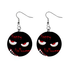 Happy Halloween   Red Eyes Monster Mini Button Earrings by Valentinaart