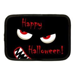 Happy Halloween   Red Eyes Monster Netbook Case (medium)  by Valentinaart