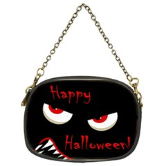 Happy Halloween   Red Eyes Monster Chain Purses (two Sides)  by Valentinaart
