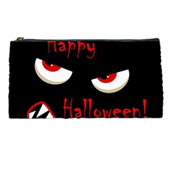 Happy Halloween   Red Eyes Monster Pencil Cases by Valentinaart