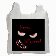 Happy Halloween   Red Eyes Monster Recycle Bag (one Side) by Valentinaart