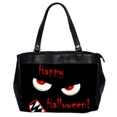 Happy Halloween   Red Eyes Monster Office Handbags (2 Sides)  by Valentinaart