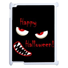 Happy Halloween   Red Eyes Monster Apple Ipad 2 Case (white) by Valentinaart