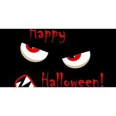 Happy Halloween   Red Eyes Monster You Are Invited 3d Greeting Card (8x4) by Valentinaart