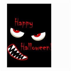 Happy Halloween   Red Eyes Monster Small Garden Flag (two Sides) by Valentinaart