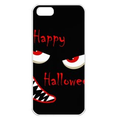 Happy Halloween   Red Eyes Monster Apple Iphone 5 Seamless Case (white) by Valentinaart