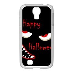 Happy Halloween   Red Eyes Monster Samsung Galaxy S4 I9500/ I9505 Case (white) by Valentinaart