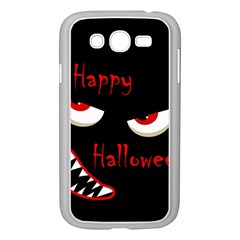 Happy Halloween   Red Eyes Monster Samsung Galaxy Grand Duos I9082 Case (white) by Valentinaart