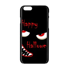 Happy Halloween   Red Eyes Monster Apple Iphone 6/6s Black Enamel Case by Valentinaart