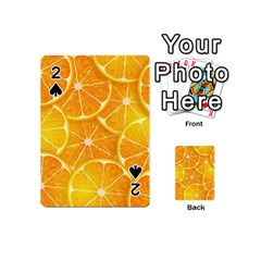 Orange Copy Playing Cards 54 (mini)  by AnjaniArt