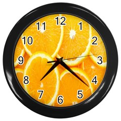 Orange Fruit Wall Clocks (black) by AnjaniArt