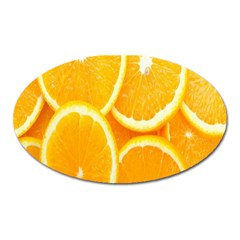 Orange Fruit Oval Magnet