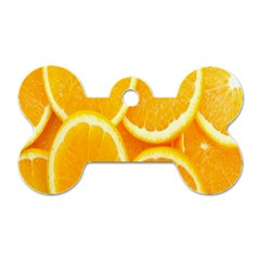 Orange Fruit Dog Tag Bone (one Side) by AnjaniArt