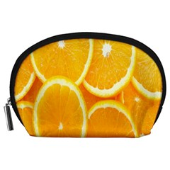 Orange Fruit Accessory Pouches (large)  by AnjaniArt