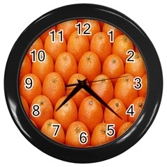 Orange Fruits Wall Clocks (black) by AnjaniArt