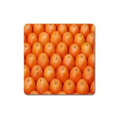 Orange Fruits Square Magnet