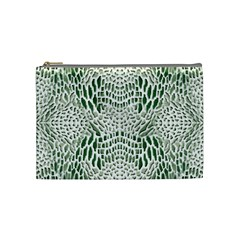 Green Reptile Scales Cosmetic Bag (medium)  by RespawnLARPer