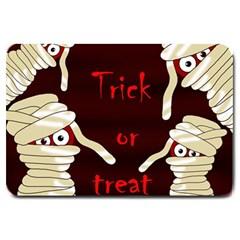 Halloween Mummy Large Doormat  by Valentinaart