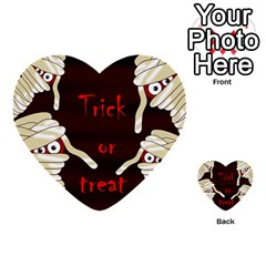 Halloween Mummy Multi Purpose Cards (heart)