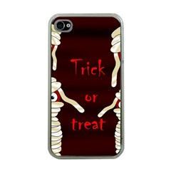Halloween Mummy Apple Iphone 4 Case (clear) by Valentinaart