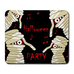 Halloween Mummy Party Large Mousepads by Valentinaart