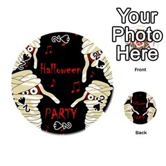 Halloween mummy party Playing Cards 54 (Round)  by Valentinaart