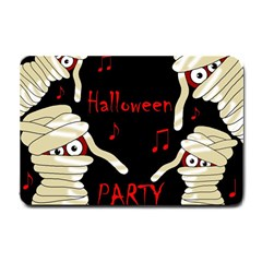 Halloween Mummy Party Small Doormat  by Valentinaart