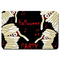 Halloween Mummy Party Large Doormat  by Valentinaart