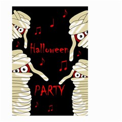 Halloween Mummy Party Small Garden Flag (two Sides) by Valentinaart