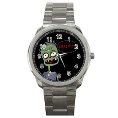 Halloween Zombie Sport Metal Watch