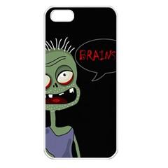 Halloween Zombie Apple Iphone 5 Seamless Case (white) by Valentinaart