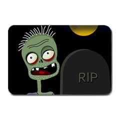 Halloween Zombie On The Cemetery Plate Mats by Valentinaart