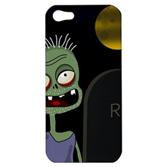 Halloween Zombie On The Cemetery Apple Iphone 5 Hardshell Case by Valentinaart