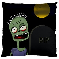 Halloween Zombie On The Cemetery Standard Flano Cushion Case (one Side) by Valentinaart