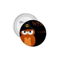 Halloween Witch   Orange Owl 1 75  Buttons by Valentinaart