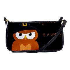 Halloween Witch   Orange Owl Shoulder Clutch Bags by Valentinaart