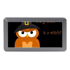 Halloween Witch   Orange Owl Memory Card Reader (mini) by Valentinaart