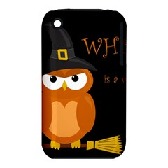 Halloween Witch   Orange Owl Apple Iphone 3g/3gs Hardshell Case (pc+silicone) by Valentinaart