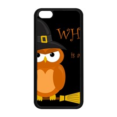 Halloween Witch   Orange Owl Apple Iphone 5c Seamless Case (black) by Valentinaart
