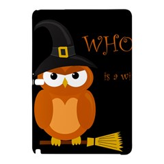 Halloween Witch   Orange Owl Samsung Galaxy Tab Pro 12 2 Hardshell Case by Valentinaart