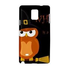 Halloween Witch   Orange Owl Samsung Galaxy Note 4 Hardshell Case by Valentinaart