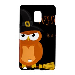 Halloween Witch   Orange Owl Galaxy Note Edge by Valentinaart