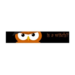 Halloween Witch   Orange Owl Flano Scarf (mini) by Valentinaart