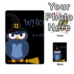 Halloween Witch   Blue Owl Multi Purpose Cards (rectangle)  by Valentinaart